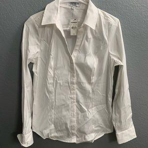 Express White Button Up Dress Shirt